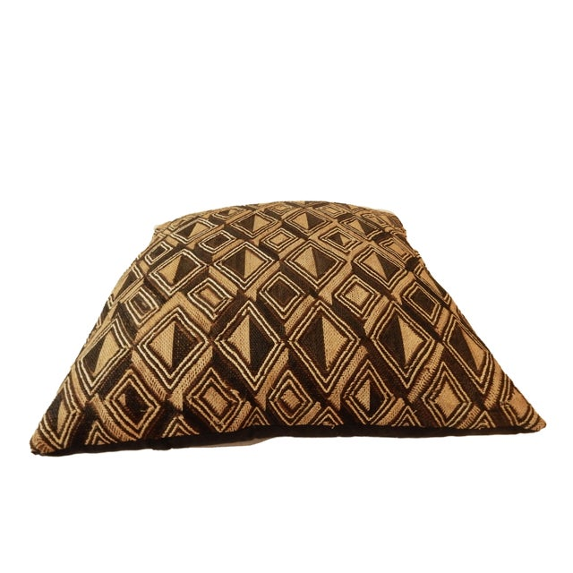 African Kuba Textile Pillow For Sale - Image 5 of 7