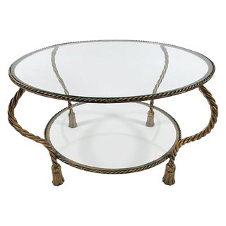 Italian Gilt Rope & Glass Table