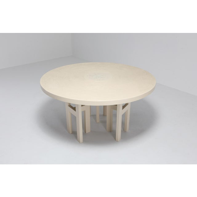 Jean Claude Dresse Jean Claude Dresse Exceptional Resin Dining Table For Sale - Image 4 of 9