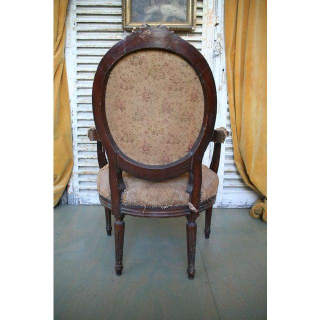 Louis XVI Style Armchair - Image 6 of 9