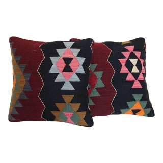 Vintage Kilim Rug Pillow - a Pair For Sale