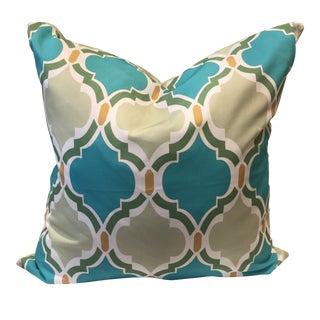 Green & Blue Decorative Throw Pillow