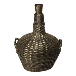 Gorham Sterling Silver Overlay Basket Jug For Sale