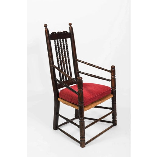18th Century Vintage English Oak Bannister Armchair For Sale - Image 11 of 11