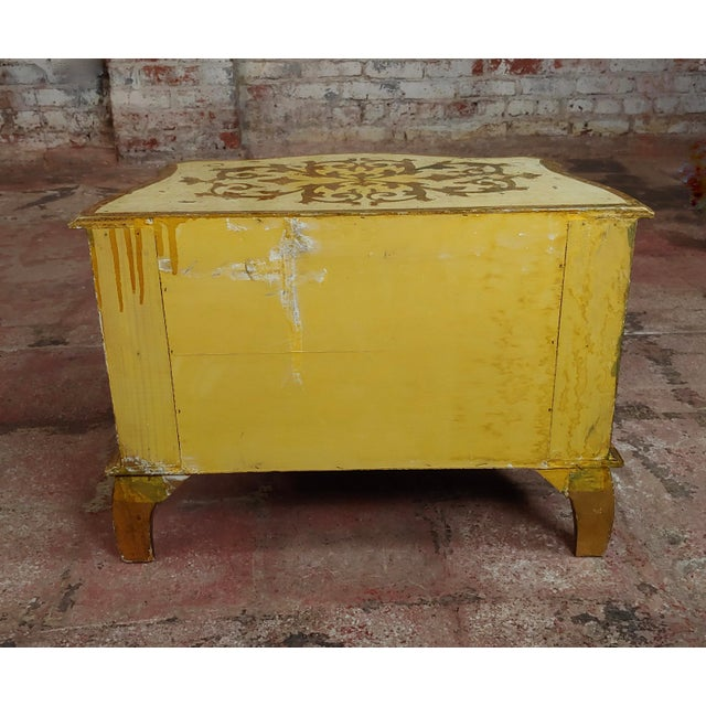 Antique Italian Florentine Small Gilt-Wood Commodes -A Pair For Sale - Image 9 of 10