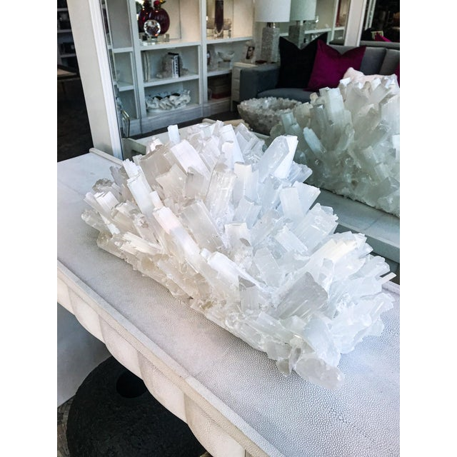 Stone Kathryn McCoy Selenite Crystal Sculpture For Sale - Image 7 of 8