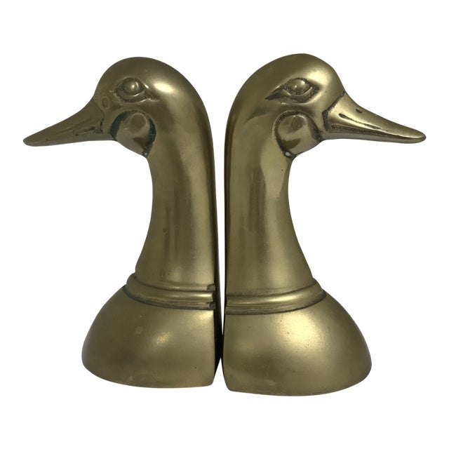 1960s Vintage Brass Dick Head Bookends- A Pair For Sale