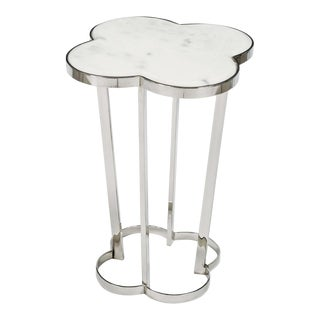 Clover Table in Polished Nickel For Sale
