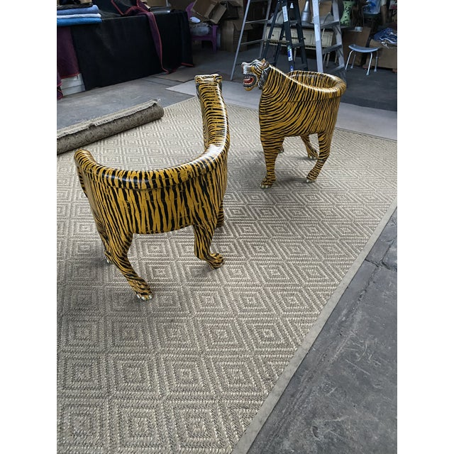Wood 1970s Vintage Tiger Tub Chairs- a Pair For Sale - Image 7 of 13