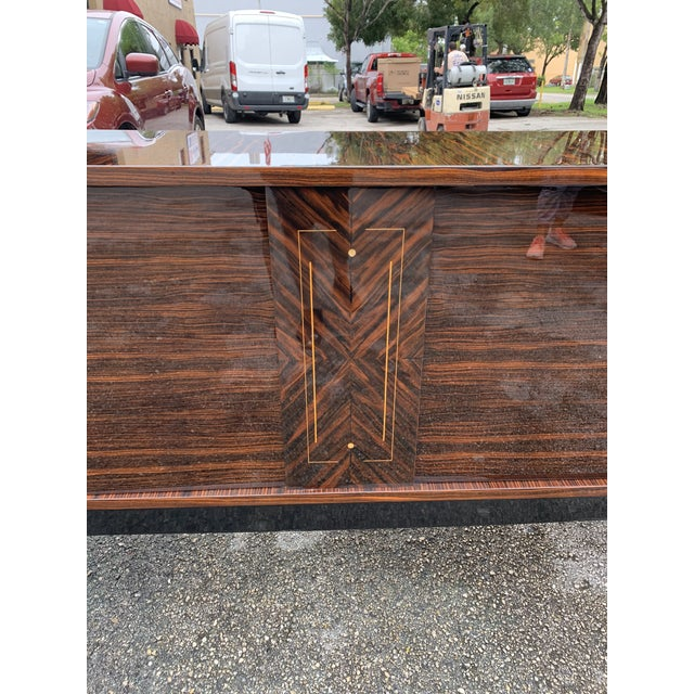 1940s Vintage French Macassar Ebony Sideboard For Sale - Image 4 of 13