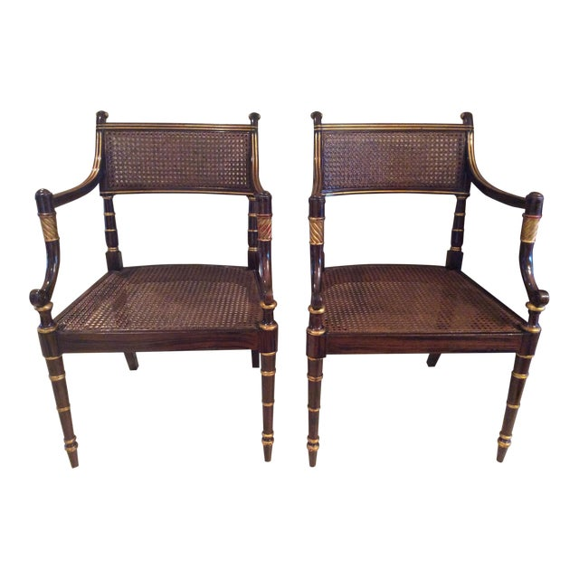 Vintage Baker Regency Accent Chairs - A Pair - Image 1 of 7