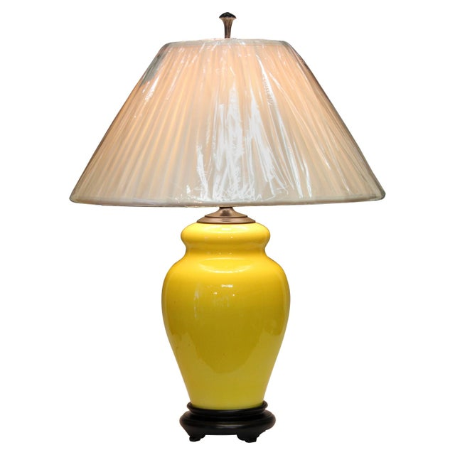 Alvino Bagni Atomic Chrome Crackle Yellow Italian Pottery Raymor Gourd Lamp For Sale - Image 11 of 11