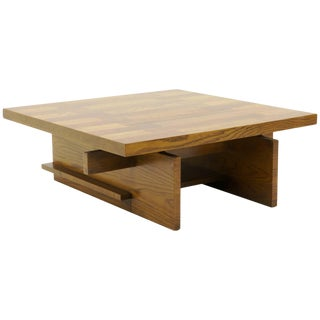 Coffee Table by Lane Heavy Walnut Construction For Sale