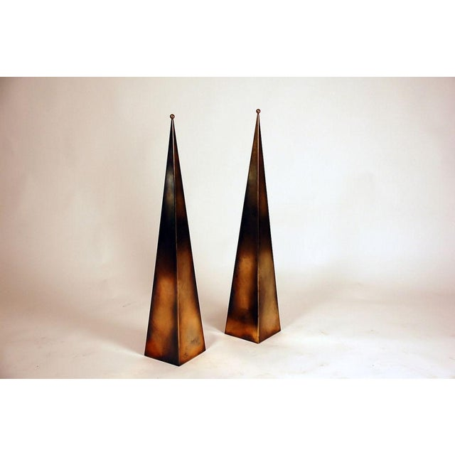 Pair of Tall 'Pyramide' Console or Floor Lamps by Design Frères For Sale In Los Angeles - Image 6 of 6
