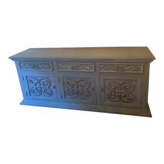 Paris Grey Chalk Painted Sideboard/Tv Media Center For Sale