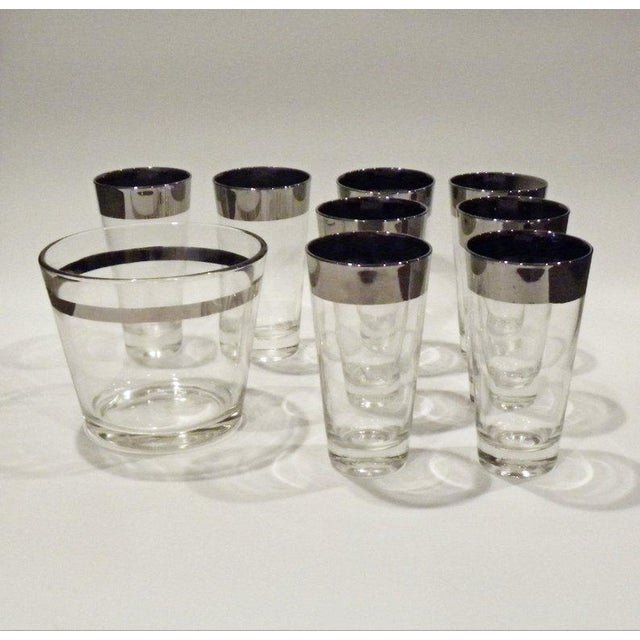Vintage Mid Century Bar Glass Set - 9 Pieces For Sale In New York - Image 6 of 6