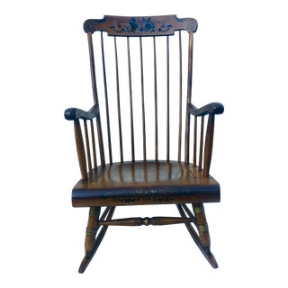 Vintage Mid-Century Nichols & Stone Co. Rocking Chair For Sale