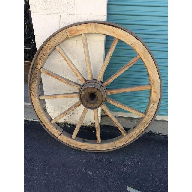 Very Large Pioneer Covered Wagon Wheel - Image 4 of 4