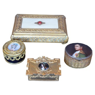 Collection of Four 19th Century French Boxes For Sale