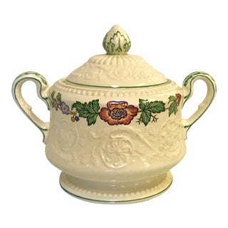 Vintage Wedgewood Patrician Tapestry Collection Sugar Bowl With Lid For Sale