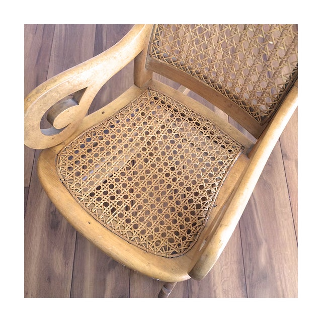 Childs Rocking Chair With Caned Back - Image 6 of 6