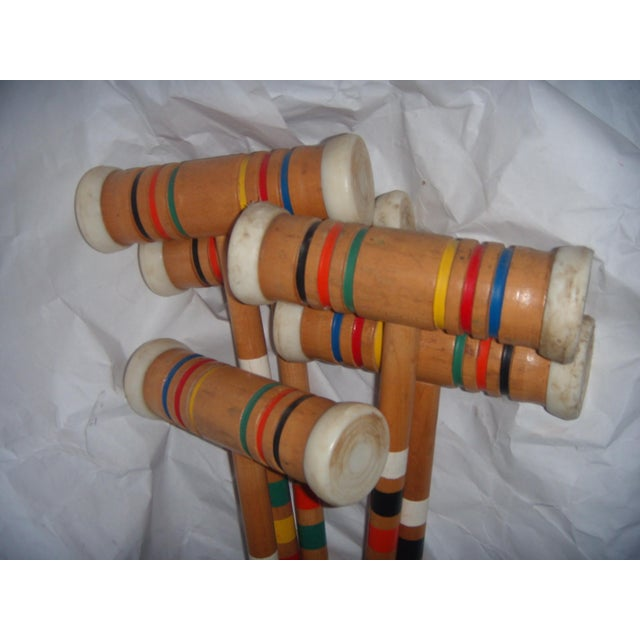 Vintage Croquet Mallets - Set of 5 - Image 7 of 7