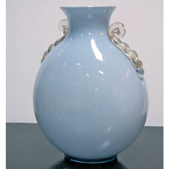 Toso Murano Murano Glass Vase by Toso For Sale - Image 4 of 8