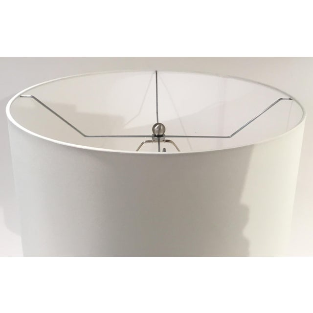 Arteriors Home Arteriors Modern White Crackle Glaze Porcelain Skye Table Lamp with Shade For Sale - Image 4 of 5