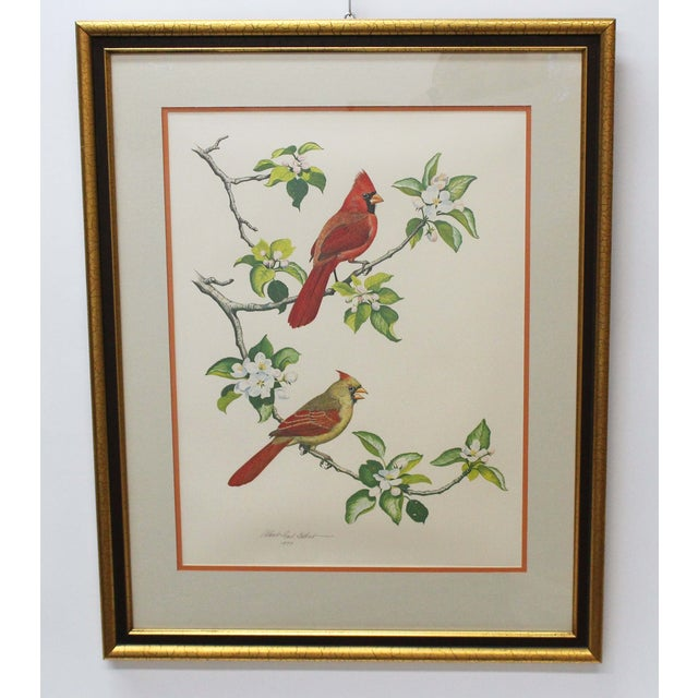 The Cardinal Print Lithograph by Albert Earl Gilbert in 1976. This is the one in a series of four original artworks in the...