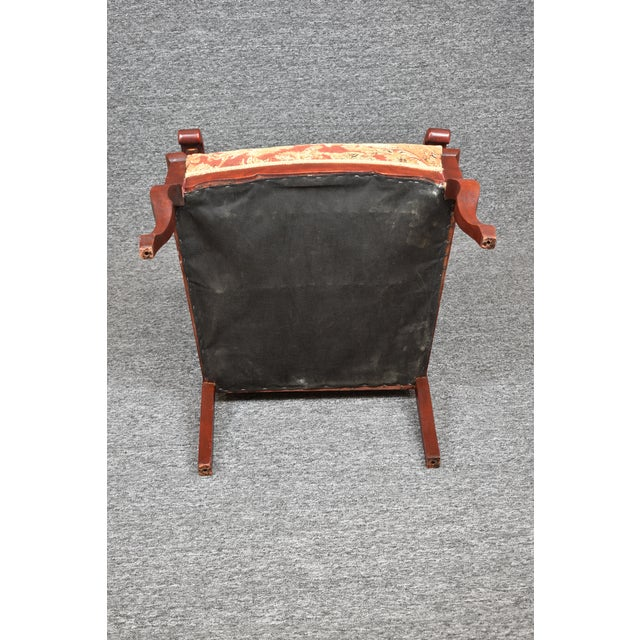 Wood Antique Old World Carved Shield Back Armchair For Sale - Image 7 of 12