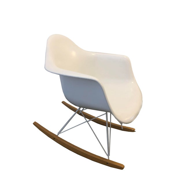 Modernica White Rocking Chair For Sale In New York - Image 6 of 6