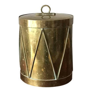 1960s Italian Brass Drum Ice Bucket