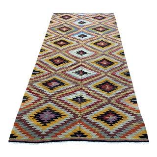 Vintage Turkish Wool Kilim For Sale