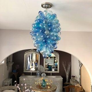 Shades of Blues Handblown Glass Light Fixture Preview