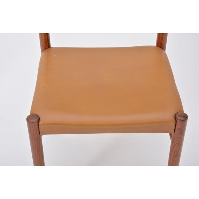 Mid-Century Modern Rosewood Dining Chairs by h.w. Klein for Bramin, Set of Four For Sale - Image 3 of 12