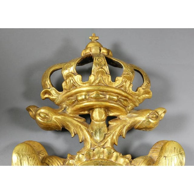 Pair of European Giltwood Mirrors For Sale - Image 5 of 7