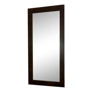 Larson Juhl Italian Over-Sized Wood Veneer Floor Mirror For Sale