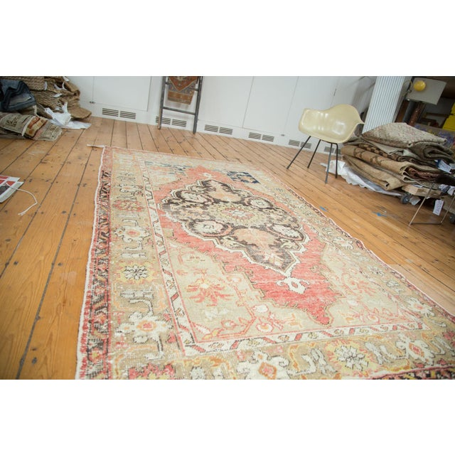 "Vintage Oushak Distressed Carpet - 4'10"" X 8'2"" - Image 2 of 10"
