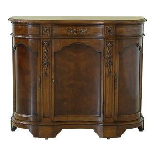 Karges Walnut French Louis XV Style Hall Chest Commode For Sale