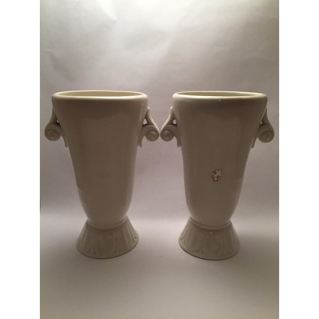 Hollywood Regency Abingdon Pottery Mid-Century Vases - a Pair For Sale - Image 3 of 6