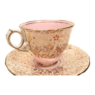 Royal Stafford Pink and Gold Teacup and Saucer