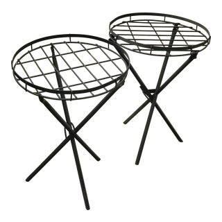 Mid-Century Modernist Plant Stands - A Pair For Sale