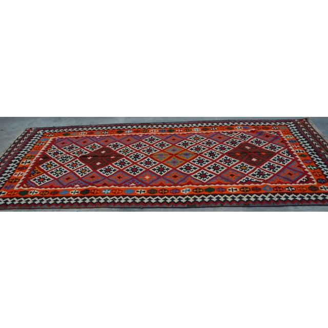Islamic Persian Handwoven Wool Kilim Rug - 5′2″ × 9′9″ For Sale - Image 3 of 6