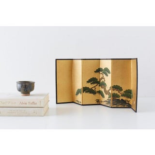 Japanese Miniature Six Panel Screen of Ancient Pine Preview