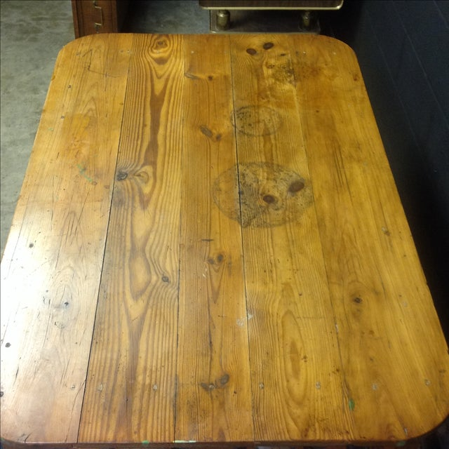 Antique French Pine Table For Sale In Austin - Image 6 of 7