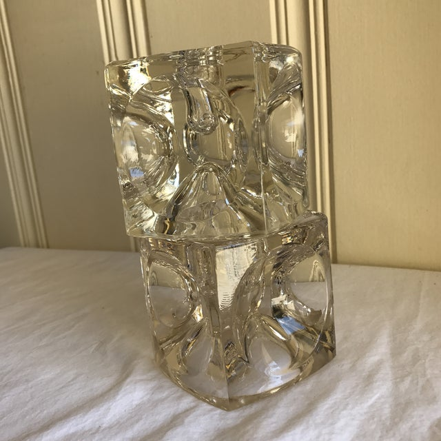 Artisan Geometric Glass Candle Holders - A Pair For Sale In Los Angeles - Image 6 of 11