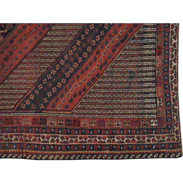 """Antique Persian Distressed Rug - 5'4"""" X 10'1"""" - Image 4 of 4"""