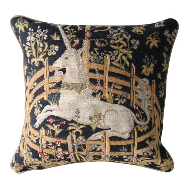 Medieval Unicorn Pillow Cover - Image 1 of 2
