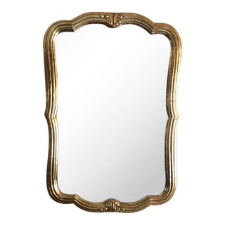 Large Retired Solid Brass Mirror by La Barge