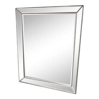 Restoration Hardware Venetian Beaded Silver Finish Mirror For Sale